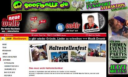 Die Neue Welle Karlsruhe - Goofballz - Haltestellenfest